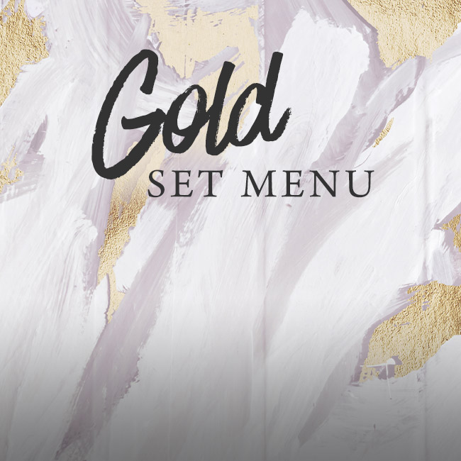 Gold set menu at The Cliff