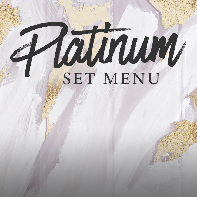 Platinum set menu at The Cliff